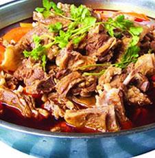 红油羊肉锅